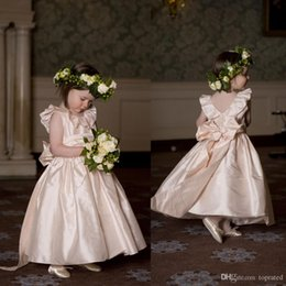Little Kids Beautiful Party Dresses 2015 Jewel Ruffles Bows Covered Button Ankle Length Cute Flower Girls Dresses Custom made