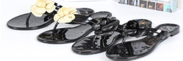Wholesale summer women s floral Brand slippers female s flip flops flowers slippers pvc sandals Camellia Jelly Shoes beach