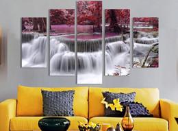 Wholesale 1set Forest waterfall decorative painting landscapes specifications cmx40cmx2pcs cmx60cmx2pcs cmx80cmx1pcs frameless