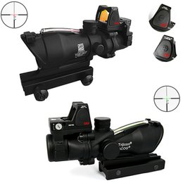 2016 Newest Model Trijicon TA31 ACOG Style 4X32 Real Fiber Source Duel Illuminated Sight Scope RMR Micro Red Brightness Adjusted