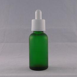 Wholesale Glass Unicorn Bottles ml E Liquid Dropper Bottle E Child Proof Tamper Caps Ejuice Glass Bottle Matte Green Color Bespoke Eliquid Bottle