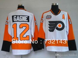 Wholesale 2016 Hot Philadelphia Flyers Simon Gagne White Ice Hockey Jerseys Emboridered Logos Size