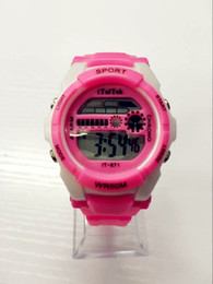 Wholesale Cute Children Led Digital Watch Creative Arc Jelly Colors Watches Suitable For Boys And Girls Personalized Watches Fashion Dress Watches