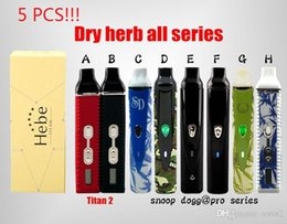 Wholesale 5PCS vaporizer Dry Herb Titan and white with blue black camouflage black scale pro elite starter kits