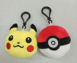 Wholesale DHL Hot CM Poke Plush keychain Pendants Stuffed Ball Plush Keychain Toys For Kids Gifts
