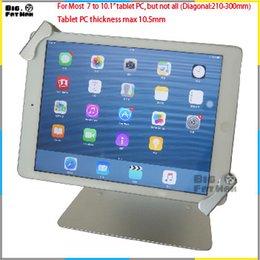 Wholesale Universal tablet holer desktop stand for to quot Samsung Tab lenovo lock holder display rack bracket mounting anti theft