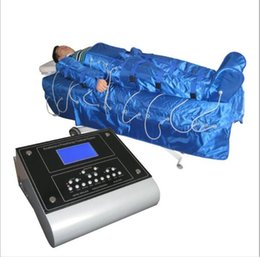 Wholesale 16 Air Bags Air Wave Pressure FAR INFRARED PRESSOTHERAPY Body Wrap SLIMMING machine Detox lymph drainage Beauty Massage Equipment