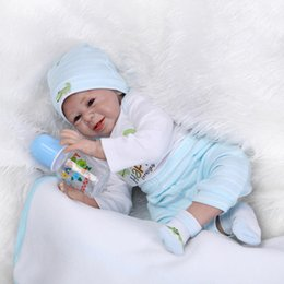 Wholesale 22 Inch Soft Silicone Reborn Baby Dolls So Truly Real Baby Alive Bonecas Doll Kids Toys Christmas Gift