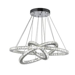 Wholesale VALLKIN DIY LED Pendant Light K9 Crystal Chandeliers Hanging Lamps Fixtures For Indoor Home with AC100 to V CE FCC ROHS