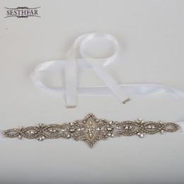 Artificial Haute Qualité luxe exquis femme Sash mariée avec cristal strass mariage formel robe Ceintures Accessoires à partir de mariage strass robe de cristal fabricateur
