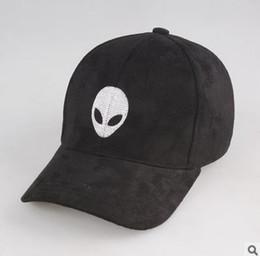 Wholesale Hot sales aliens Outstar saucer Space E T UFO fans black fabric baseball caps hat for kid children teenage adult men women