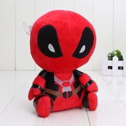Descuento superhéroes juguetes de peluche 50pcs 18cm Super Heroes Deadpool juguetes de peluche blandito, Deadpool algodón PP Los juguetes de peluche colgante llavero Juguetes para bebés
