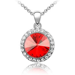 Fashion Accessories Branded Design Austrian Crystal Pendant Necklace Made with Swarovski Elements Necklace Short Chain Free shipping 1100
