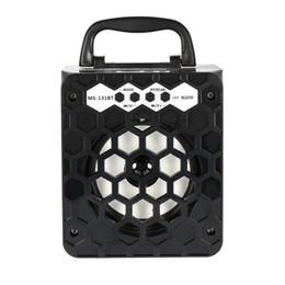 Boîte de haut-parleur de radio à vendre-MS-131BT Multimédia Haut-parleur Bluetooth sans fil FM Radio Mobile Mp3 Haut-parleur Boîte de son Subwoofer USB 3.5mm Plug Support SD TF