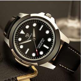 372 movimiento de cuarzo de reloj de moda de lujo de los hombres no mecánicos negro, azul y verde sub sub serie de fantasmas