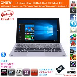 Wholesale Inch Chuwi Hi Book HiBook Dual OS Tablet PC Intel Atom X5 Cherry Trail Z8300 bit Windows10 Android GB GB Laptop