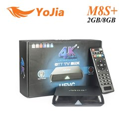 Wholesale 10PCS Genuine M8S M8S Plus Android5 TV Box Amlogic S812 Quad Core G G Wifi GB GB H Gigabit Lan Bluetooth4