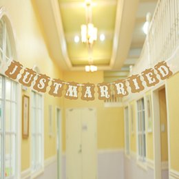 Rustic Wedding Decoration Flag Garland Wedding Banner With White Ribbon Party Decorations The Birthday Party Flag Wedding Decorations