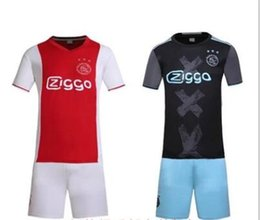 Wholesale Benwon Ajax Home away soccer uniforms thai quality designer football jerseys short sleeve soccer kits men s athletic sportswear set