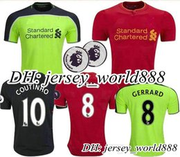 Wholesale Top Thai quality Liverpooles Home Away rd Soccer Jersey GERRARD COUTINHO FIRMINO HENDERSON STURRIDGE LALLANA YNWA Football shirt