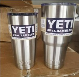 Wholesale HOT Sale OZ OZ OZ Yeti Cups Rambler Coolers Tumblerl Cup Coffee Mug Tumblerful Bilayer Vacuum Insulated Stainless Steel DHL Ship