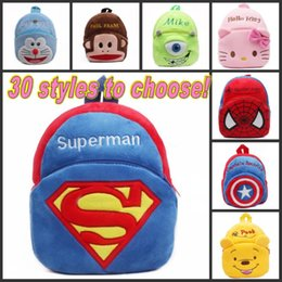 Wholesale NEW Book bag for kids Cartoon backpacks lovely fluffy bags for kids small size for age t childen styles to choose DHL Free