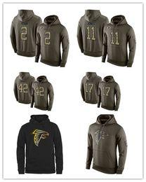 Wholesale 2016 hot sale new arrival Atlanta cheap Falcons Matt Ryan football hoodies Sanders sweatshirts fashion retro hoodies size M XL