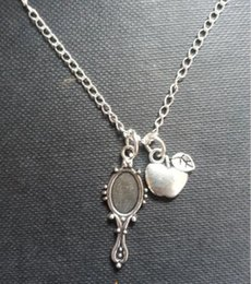 Wholesale antique silver Once Upon a TIme Snow White Princess Inspired apple Charm pendant Necklace