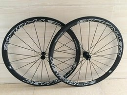 Wholesale Ultra Light Clincher tubular road racing bicycle carbon wheels front rear wheels K UD matte basalt braking track wheelset