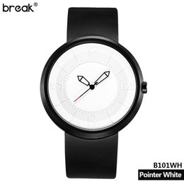 Break Men Women Creative Cool Waterproof Minimalist Unisex Quartz Rubber Strap Relogio Wristwatch Fashion Casual Sports Watches
