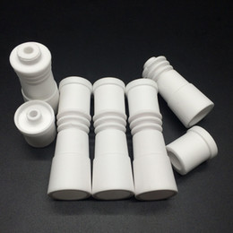 14mm and 18mm Female Ceramic Nail 2 in 1 Domeless Ceramic Nails Fit 20mm Flat E-Nail Coil Heater