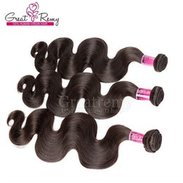 Indian Virgin Hair 3pcs lot Remy Human Hair Weave Wavy Body Wave Free Shipping Natural Color