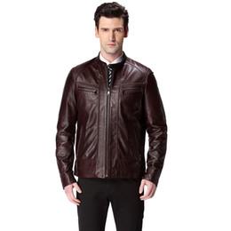 2017 venta caliente de la motocicleta 2016 vendiendo la chaqueta de cuero caliente, cuero genuino, color 2, piel de oveja, capa del hombre de la motocicleta, hombres de la chaqueta de cuero, chaqueta del motorista económico venta caliente de la motocicleta