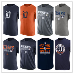 Wholesale Men s Detroit Tigers Authentic Collection Legend Logo Performance T Shirt Red Black Baseball Mix Order