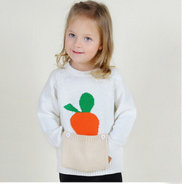 Wholesale Children Clothes Design For Boys - 2016 Hot Pockets Design Sweaters for Children Pullover Baby Girls Cardigans Long Sleeve Top Kids Boys Clothes