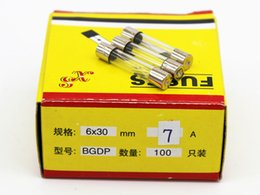 100pcs lot 7A 6*30MM Fuses Fast Quick Blow Glass Tube Fuse 6x30mm 250V 7A F7AL250V