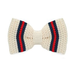 Beige Blue Bow Tie Men's Tuxedo Party Adjustable Business Casual Stylish Bow Tie Gift Box Fashion Accessories F-335