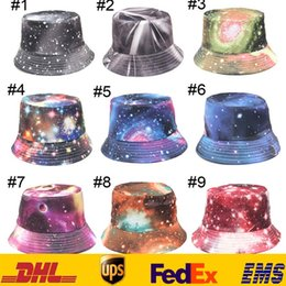 Wholesale Colorful Bucket Hats - 21 Style Women Printed Floral Bucket Hat Beanies Colorful Hunting Fishing Outdoor Resort Visor Sun Protection Cap Summer Sun Hats ZJ-H10