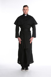 Male role play Cosplay uniform priest Halloween costume