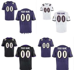 Wholesale HOT SALE Men s Baltimore Raven Custom Elite Football Jerseys High Quality Stitched Any Name Number You Decide Three Colors Allowed