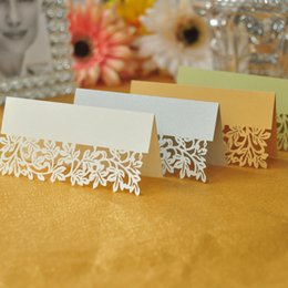 100pcs Lot Tree Leaf Laser Cut Wedding Party Table Name Place Cards Favor Decor Wedding Decoration Baby Shower Event Party Decoration