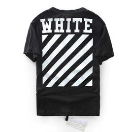 Wholesale best edition Off White CO men short sleeve tshirt tee off white virgil abloh t shirt tee kanye west t shirt striped