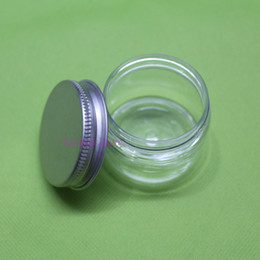Wholesale 100PCS g ml Clear Plastic Cosmetic pet Bottle for Cosmetic lotion Cream Jars Pill Packaging Containers with aluminum lids