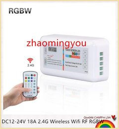 YON Newest DC12-24V 18A 2.4G Wireless Wifi RF RGBW remote led controller touch screen wifi led control for rgbw led strip tape light