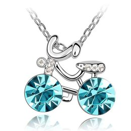 Charm lady Jewellery Crystal Necklace Pendant Made with Swarovski Elements Short Necklaces 18k White Gold Plated 5287