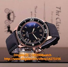 Wholesale New Luxury Rose Gold FIFTY FATHOMS MM Quartz Gents Watch D B High Quality Mens Best Sports Watches
