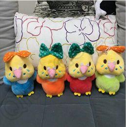 Wholesale Creative Styles cm Colorful Chick Plush Toys Kids Plush Dolls Cartoon Stuffed Toy Bow Chicken Plush Toys Stuffed Animal LJJC4561