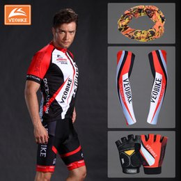 Wholesale whole set of mens cycling clothes easy dry fabric high quality comfortable bicycle dress sport wear casual cloth