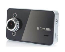 Wholesale 100PCS quot HD P Car DVR Vehicle Dash Camera Video Recorder Tachograph G sensor K6000 l2 Free send DHL