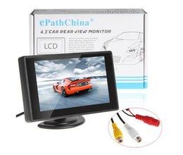 4,3 pouces couleur TFT LCD stationnement voiture moniteur de voiture moniteur de sauvegarde 4.3 '' 2 entrée vidéo pour caméra inversée DVD à partir de moniteur de sauvegarde vidéo fabricateur